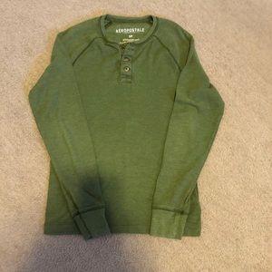 Mens Aeropostale Henley Shirt S